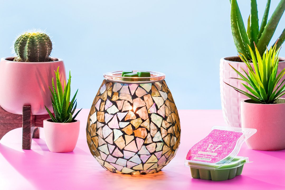 Scentsy Mended Warmer Prickly Pear Bar