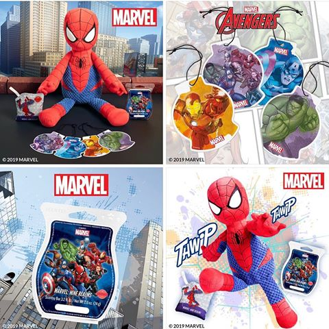 Marvel's Scentsy Spider-Man Buddy, Nine Realms Scent Pak and Bar and Avengers Scent Circles