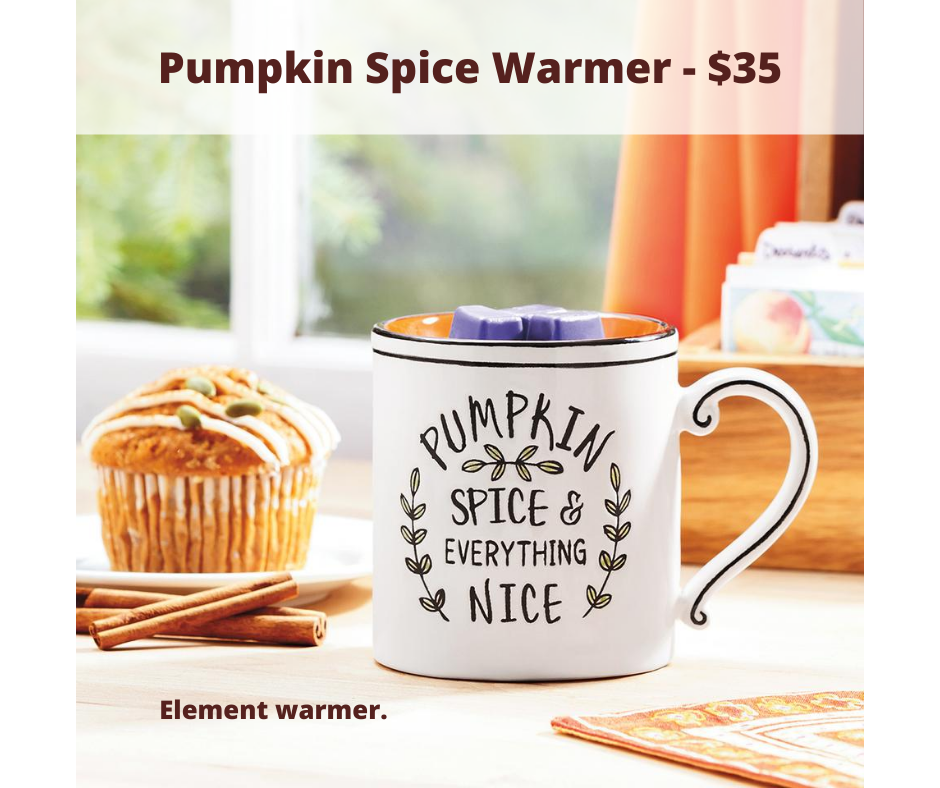 Scentsy Pumpkin Spice Element Warmer