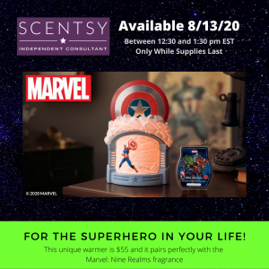 Marvel's Captain America Warmer from Scentsy
