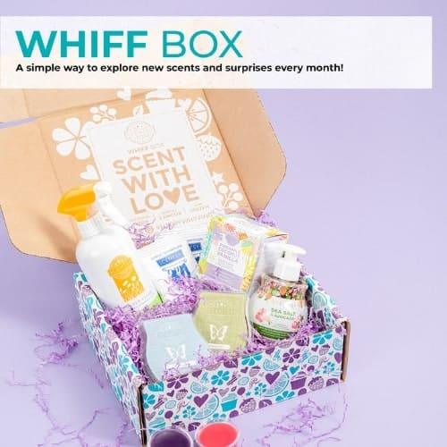 Scentsy Whiff Box Contents
