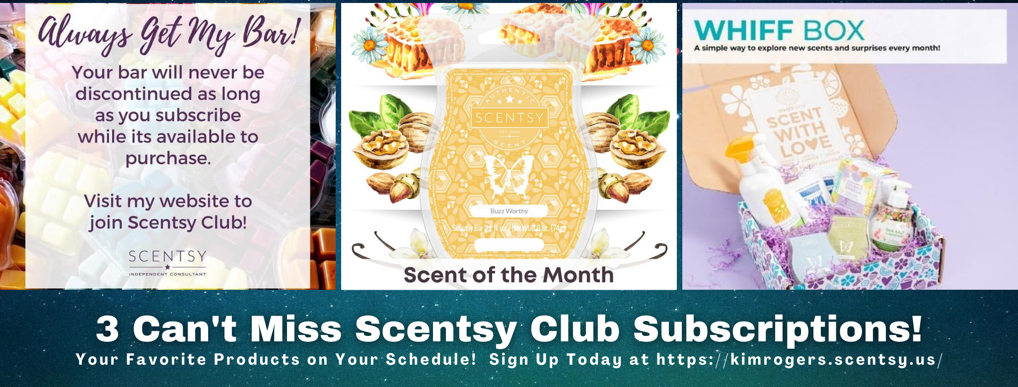 3 Scentsy Club Subscriptions