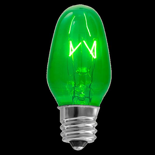 Green 15 watt scentsy bulb