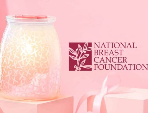 Scentsy donates $9.50 to NBCF for each Hope, Strength & Love Warmer sold