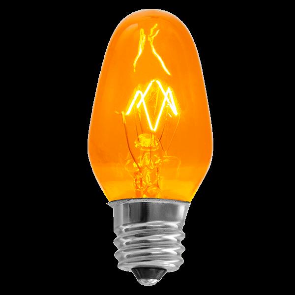 Orange 15 watt scentsy bulb